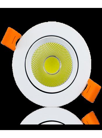Купить Светильник светодиодный Biom DL-7W-R-COB 7Вт круглый 6000K белый