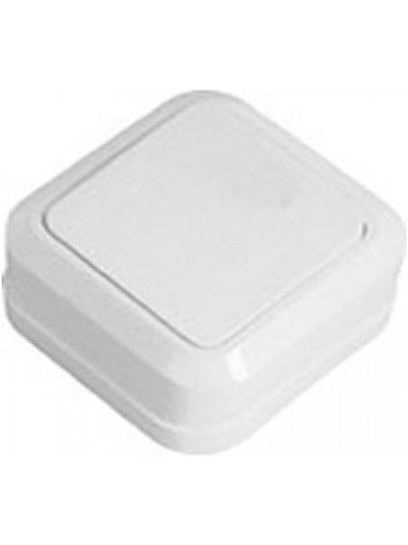 Выключатель 1кл. Simply накладной SD-10 белый 41-0001