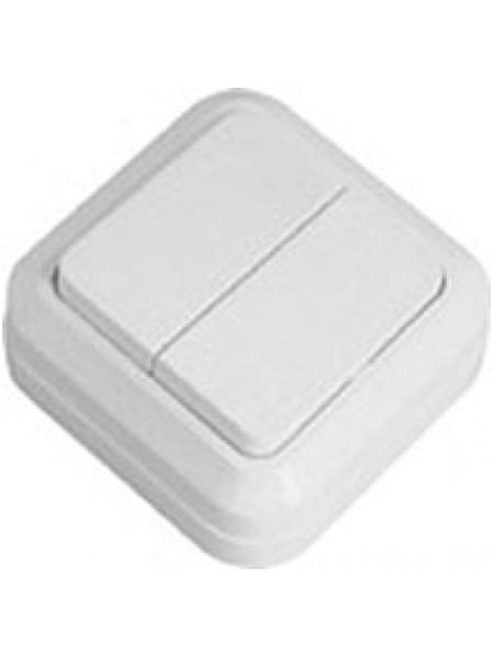Выключатель 2кл. Simply накладной SD-20 белый 41-0003