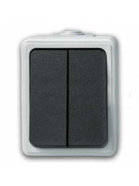 Выключатель двухклавиш., накладной - C-SD-1265